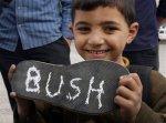 MIDEAST ISRAEL PALESTINIANS BUSH SHOE