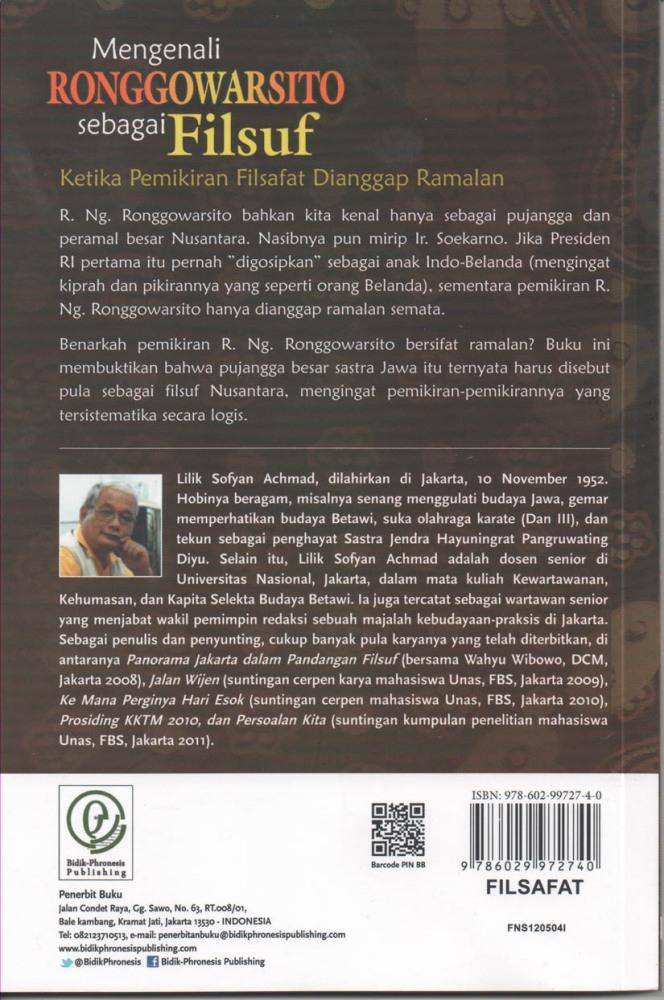 RONGGOWARSITO SEBAGAI FILSUF BESAR NUSANTARA (3/4)